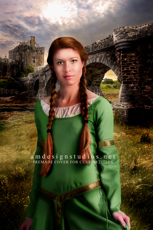 Premade Ebook Cover - Fantasy, YA, Romance, Celtic, Historical customized with your pick of fonts and information