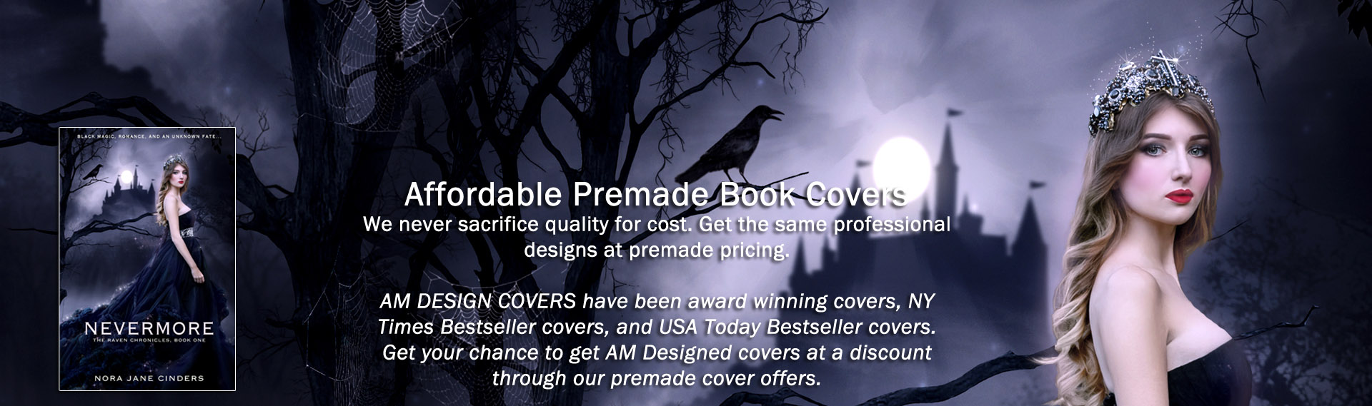 AM Design Studios - custom and premade ebook and book covers for authors and publishers