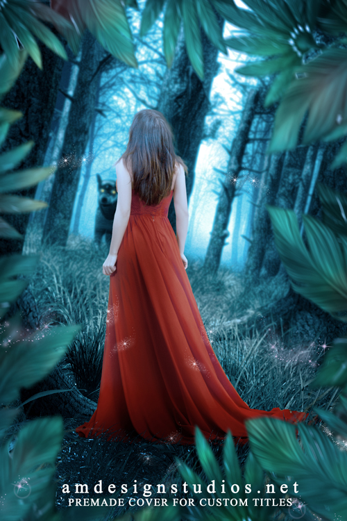 REF: 4187 premade cover art, little red riding hood, wolf, fairy tales, paranormal, shape shifter, romance