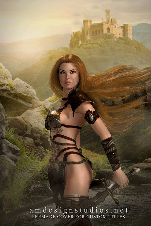 Premade ebook cover 4203 - Epic Fantasy, Warrior Woman, Sexy Xena meets Red Sonja! High Fantasy, Sword and Sorcery, Greek, Roman, Gods & Goddesses, Superheroes