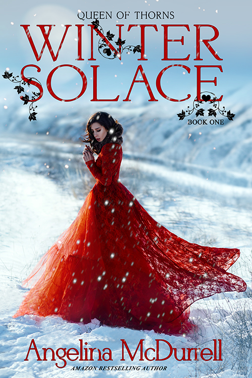 Premade Book Cover - Winter, YA, Princess, Fantasy, Red Dress, Contemporary Romance