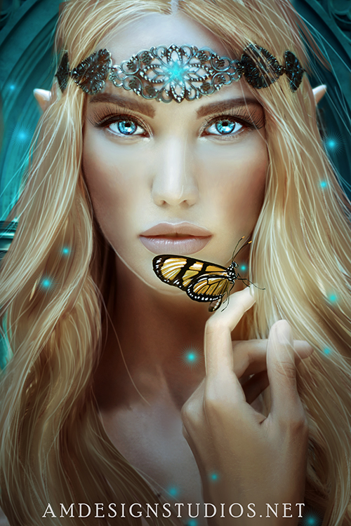 Premade Book Cover for Faires, Elves, Fantasy, Epic Fantasy, Magical, Mythic, Legends, Gods and Goddess