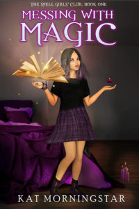 Magical Girl Witch Book Cover Illustration Premade Book Cover 3D_001