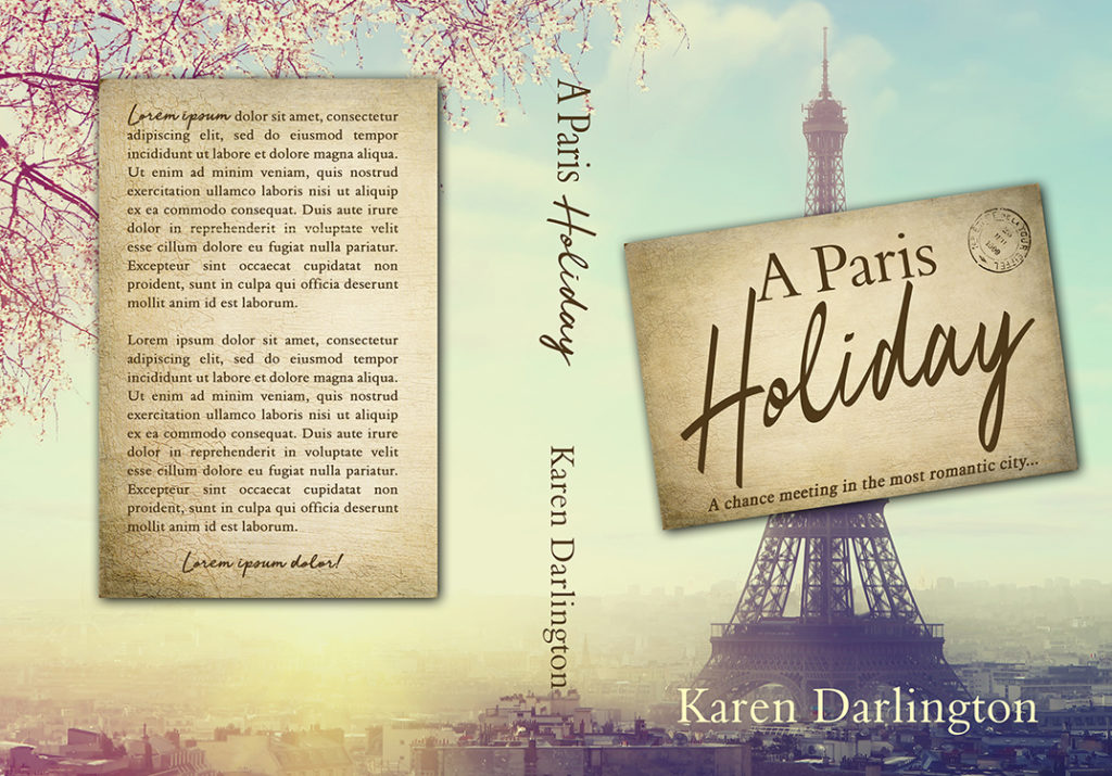 Premade Women's Fiction, Travel, Paris, Europe, Holiday, Vintage, Chick Lit Premade Book Cover