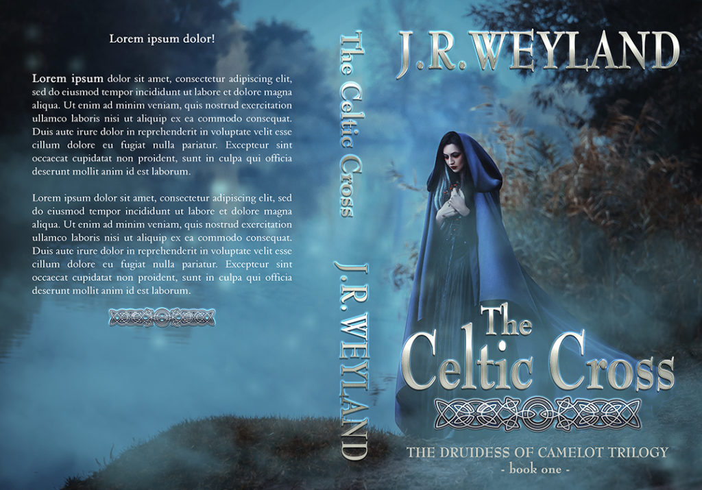 $79 REF: 18004, Historical Fantasy, Celtic, Druids, Druidess, High Fantasy, Sword and Sorcery, Magic, Woman wearing a Cloak, Witch Premades Book Covers