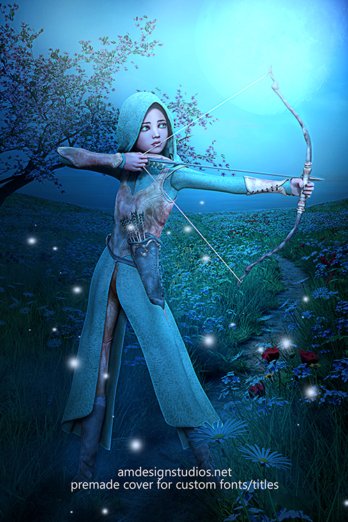 premade_4218 Middle-grade fantasy archer premade book cover